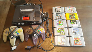 N64 with 10 games and 2 controllers