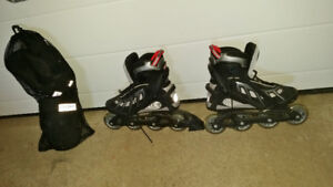 Ladies Size 7 Roller Blades & Pad Set