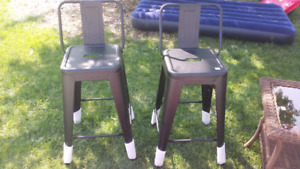 New!! Black steel bar stools