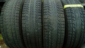 three sets and pairs of R16 winter truck tires