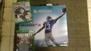 Xbox one Madden edition 1t hard drive + games