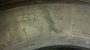 For sale 265/65/18 all season truck tires