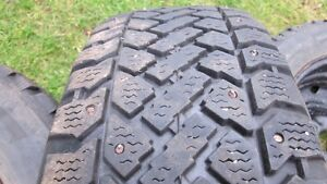 215/65R16 studded tires on steel rims