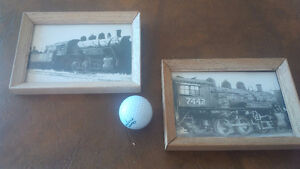 Two Small Framed Prints - Trains Kitchener / Waterloo Kitchener Area image 1