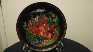Russia 1988 Plate Porcelain Hand Painted PALEKH, A 3507