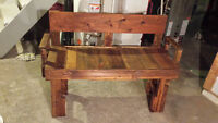 Beautiful Home crafted 2seat bench Finished