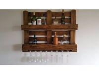Hand made rustic wine rack light oak