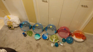 Hamster Habitrail cages and accessories