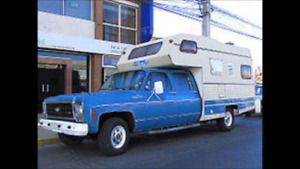 Squarbody camper cutaway