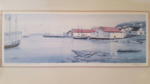 Framed Limited Edition Print Battle Harbour Labrador