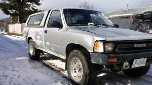 Reduced! $1300. 1990 Toyota hilux 2wd slight lift