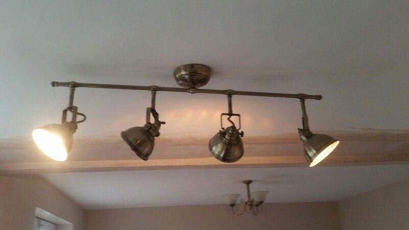 Ceiling lights waverley antique brass effect 4 bar spotlight x 2 ceiling lights waverley antique brass effect 4 bar spotlight x 2 mozeypictures Choice Image