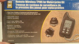 Tire pressure monitoring system for motorcycles