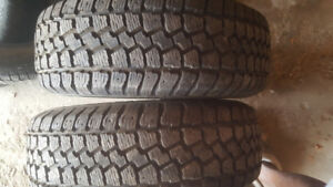 2  winter tires 215.65.15 like new