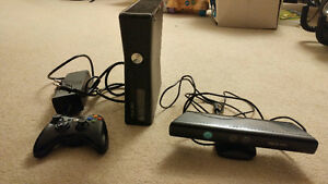 XBOX 360 with Kinect and 1 Controller