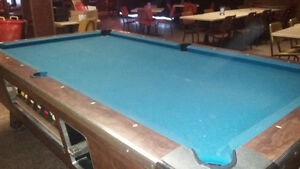 SLATE coin op pool table