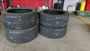 Set of 4 Yokohama STAGGERED 225/45R17 and 245/40R17 tires (65% t