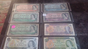 Old Canadian currency