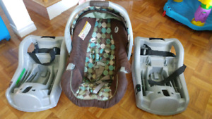 Coquille / Infant seat Graco SnugRide 30 + 2 bases