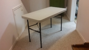 Two Folding Commercial Grade Tables