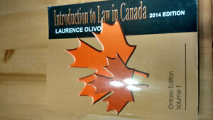 Introduction to law in Canada 2014 Ontario Edition