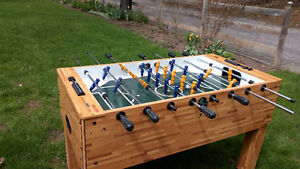 Foosball table made by Cooper