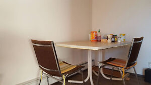 Dinning table with chairs in great condition