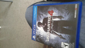 Good condition uncharted 4 and final Fantasy type o for sale