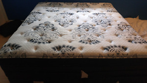 Brand new KING size mattress, box spring and metal bed frame
