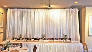 Event Backdrop Stand Rentals - $25 | Curtains - $7 each