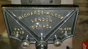 Gift Worthy Restored Richards Wilcox Vise Woodworking Antique
