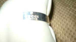"""STUNNING AUTHENTIC """"STERLING SILVER GUCCI CUFF BANGLE BRACELET"""" Kitchener / Waterloo Kitchener Area image 4"""