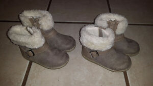 Leather Girl's Winter Boots - Like NEW!! - Two Sizes Cambridge Kitchener Area image 1