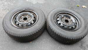 "Pair of 14"" Car Tires"