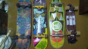 Skateboards and long board cruiserboards