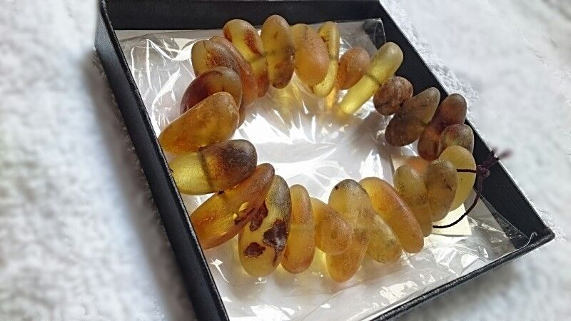 S$149.99 - BALTIC RAW AMBER BRACELET