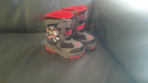paw patrol toddler snow boots