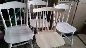 Wooden chairs 4 for $40 Kitchener / Waterloo Kitchener Area image 1