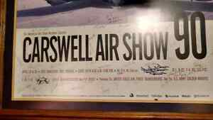 Carswell Air Show picture with original signatures of pilots Kawartha Lakes Peterborough Area image 1
