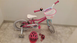 Bike 16 inch with helmet and lock