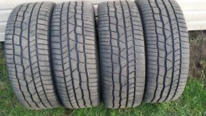 4 pneus d'hiver 225-45-18 Continental RUNFLAT