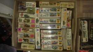 Vintage  1/72 and 1/76 scale model armor and air