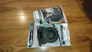 "set of 4 rc crawler 1.9"" tires on rims"