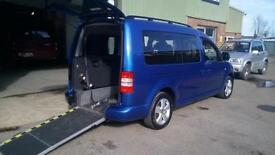 SOLD Volkswagen Caddy Maxi Life Diesel Manual Wheelchair Accessible Vehicle Car