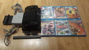 GREAT Nintendo Wii U Bundle 7 Games all Cords Controller MARIO!