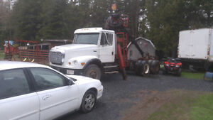 Truck with loader