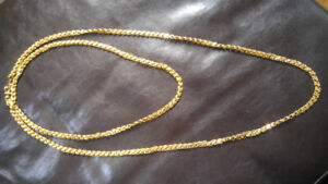 Antique vintage real 14k gold chain 42g 61.6F(156.5cm)