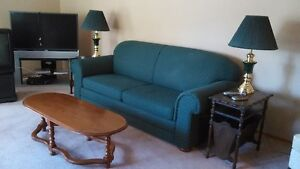 Bed Chesterfield and Wing back chair Cornwall Ontario image 2
