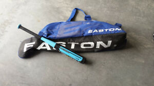 Easton ball bag and bat