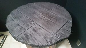 Stamped Concrete Side Table